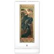 Nástěnný kalendář Alfons Mucha 2021, 33 × 64 cm