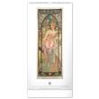 Nástěnný kalendář Alfons Mucha 2022, 33 × 64 cm
