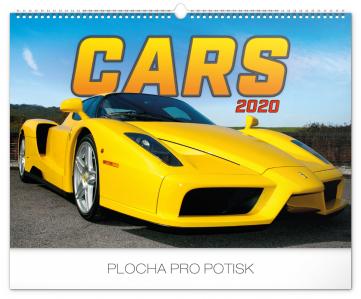 Nástěnný kalendář Auta 2020, 48 × 33 cm