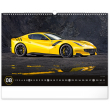 Nástěnný kalendář Auta 2022, 48 × 33 cm