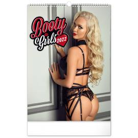 Nástěnný kalendář Booty Girls 2022, 33 × 46 cm