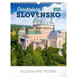 Nástěnný kalendář Čarokrásne Slovensko SK 2019, 30 x 34 cm