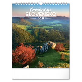 Wall calendar Wonderful Slovakia 2021, 30 × 34 cm