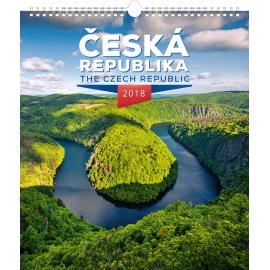 Nástěnný kalendář Česká republika 2018, 30 x 34 cm