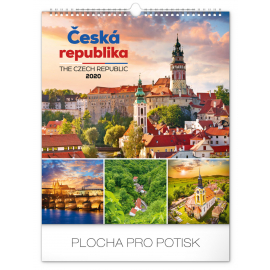 Wall calendar Czech Republic 2020, 30 × 34 cm
