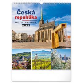 Wall calendar Czech Republic 2022, 30 × 34 cm