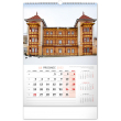 Nástěnný kalendář České a slovenské lázně 2022, 33 × 46 cm