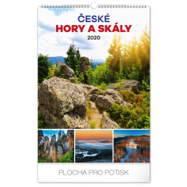 Wall calendar Czech mountains and rocks 2020, 33 × 46 cm