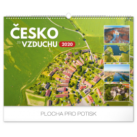 Wall calendar Czechia from the air 2020, 48 × 33 cm