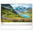Nástěnný kalendář Cesty 2021, 48 × 33 cm