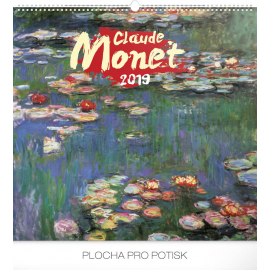 Wall calendar Claude Monet 2019, 48 x 46 cm