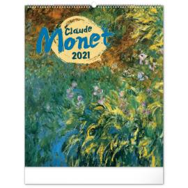 Nástěnný kalendář Claude Monet 2021, 48 × 56 cm