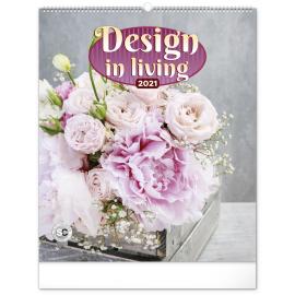 Nástěnný kalendář Design in Living 2021, 48 × 56 cm