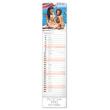 Nástěnný kalendář Girls 2020, 12 × 48 cm