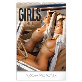 Nástěnný kalendář Girls 2020, 33 × 46 cm