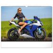 Nástěnný kalendář Girls & Bikes 2022, 48 × 33 cm
