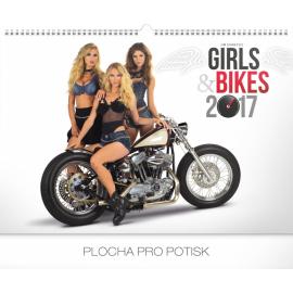 Nástěnný kalendář Girls & Bikes – Jim Gianatsis 2017, 48 x 33 cm