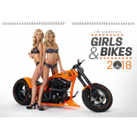 Nástěnný kalendář Girls & Bikes – Jim Gianatsis 2018, 48 x 33 cm