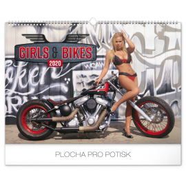 Wall calendar Girls and bikes 2020, 48 × 33 cm