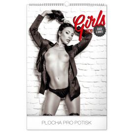 Nástěnný kalendář Girls Black & White – Martin Šebesta 2020, 33 × 46 cm