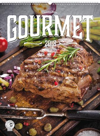 Nástěnný kalendář Gourmet 2018, 48 x 64 cm