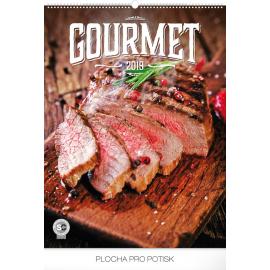 Nástěnný kalendář Gourmet 2019, 48 x 64 cm