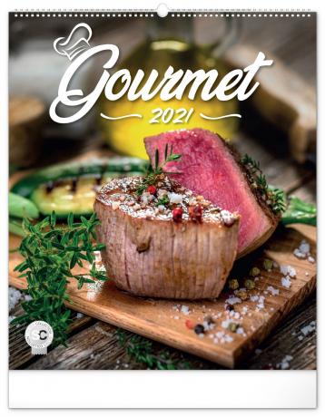 Nástěnný kalendář Gourmet 2021, 48 × 56 cm