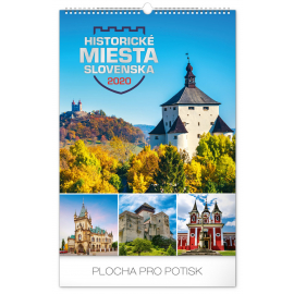 Wall calendar Historical places of Slovakia 2020, 33 × 46 cm