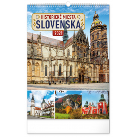 Wall calendar Historical places of Slovakia 2021, 33 × 46 cm