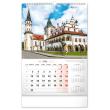 Nástěnný kalendář Historické miesta Slovenska 2021, 33 × 46 cm