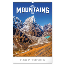 Wall calendar Mountains 2020, 33 × 46 cm