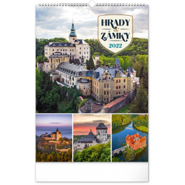 Wall calendar Castles and Chateaux 2022, 33 × 46 cm