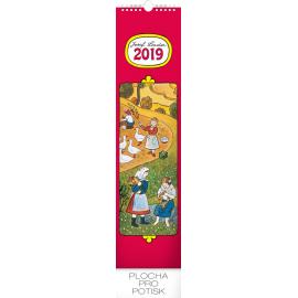 Wall calendar Josef Lada – Children 2019, 12 x 48 cm