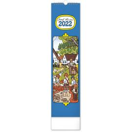 Nástěnný kalendář Josef Lada – Děti 2022, 12 × 48 cm