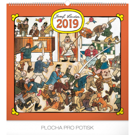 Wall calendar Josef Lada – Pub 2019, 48 x 46 cm