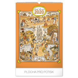 Wall calendar Josef Lada – Months of the year 2020, 33 × 46 cm
