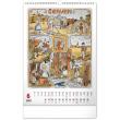 Nástěnný kalendář Josef Lada – Měsíce 2022, 33 × 46 cm
