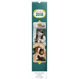 Nástěnný kalendář Josef Lada – Na vesnici 2018, 10,5 x 48 cm