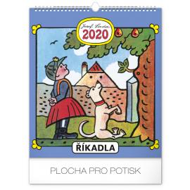 Wall calendar Josef Lada – Spells  2020, 30 × 34 cm