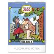 Nástěnný kalendář Josef Lada – Říkadla 2020, 30 × 34 cm