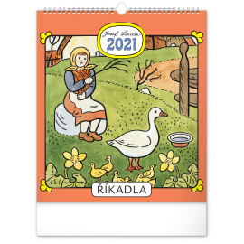 Wall calendar Josef Lada – Rhymes  2021, 30 × 34 cm