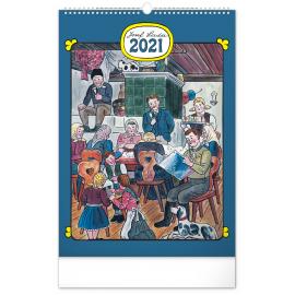 Nástěnný kalendář Josef Lada – Tradice a zvyky 2021, 33 × 46 cm