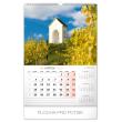 Nástěnný kalendář Kapličky a kostelíky 2020, 33 × 46 cm