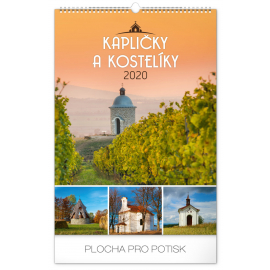 Wall calendar Chapels and churches 2020, 33 × 46 cm