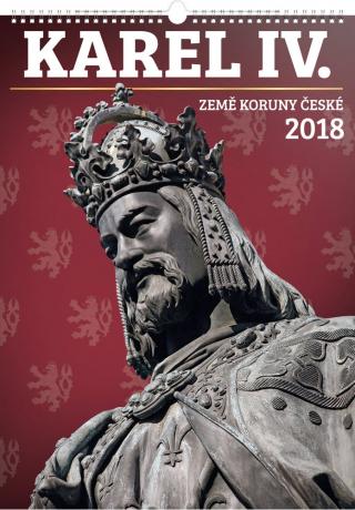 Nástěnný kalendář Karel IV. – Země Koruny české 2018, 33 x 46 cm