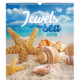 Wall calendar Jewels of the Sea 2018, 30 x 34 cm