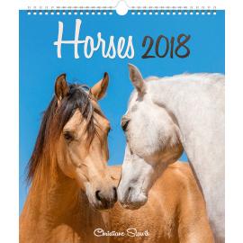 Nástěnný kalendář Koně 2018, 30 x 34 cm