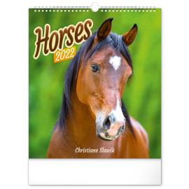 Wall calendar Horses 2022, 30 × 34 cm