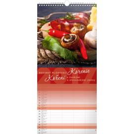 Nástěnný kalendář Koření 2017, 22 x 48 cm
