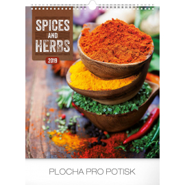 Wall calendar Spices and herbs 2019, 30 x 34 cm